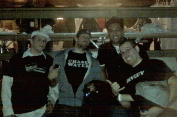 {left to right} Justin Wolf, Chase Talon, Joe Gonzalez, Adam Groom